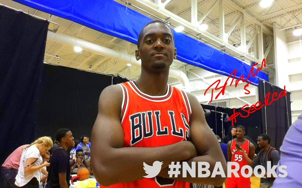 Chicago Bulls rookie Bobby Portis showed off his dance moves at the rookie event.