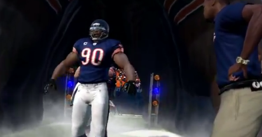 Chicago Bears Madden 12 Entrance from the Demo