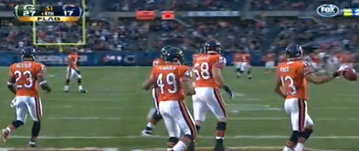 Johnny Knox Punt Return nullified Touchdown against Green Bay