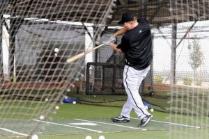 Adam Dunn hits at Camelback Ranch in Glendale, AZ