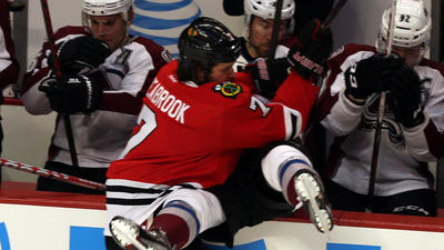 Shorthanded Hawks comeback to beat Avs 3-2; extend streak to 24