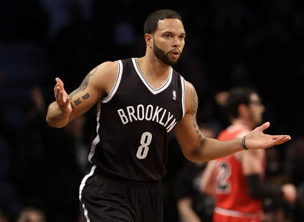 Nets guard Deron Williams finished with 22 points in the win over Chicago.  (AP Photo/Seth Wenig)
