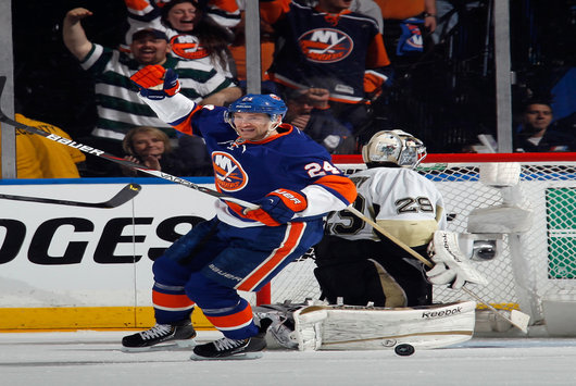 A forward the Blackhawks should pursue is the Islanders' Brad Boyes (Bruce Bennett/Getty Images).