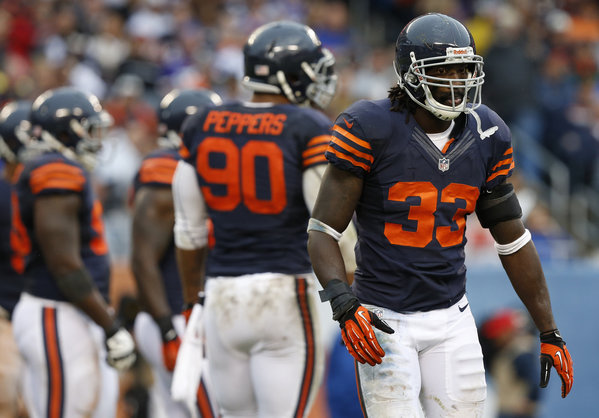 """Charles """"Peanut"""" Tillman will return to the Chicago Bears, for another season."""