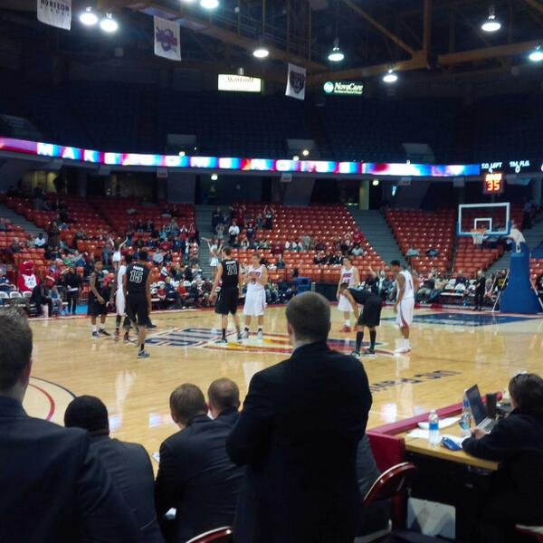 The Flames get ready to tipoff against the Phoenix.