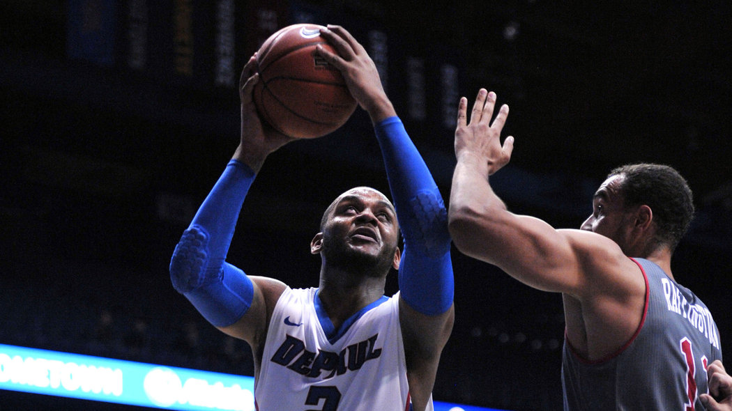 Tommy Hamilton (2) may not suit up for DePaul against Seton Hall (photo courtesy of Google).