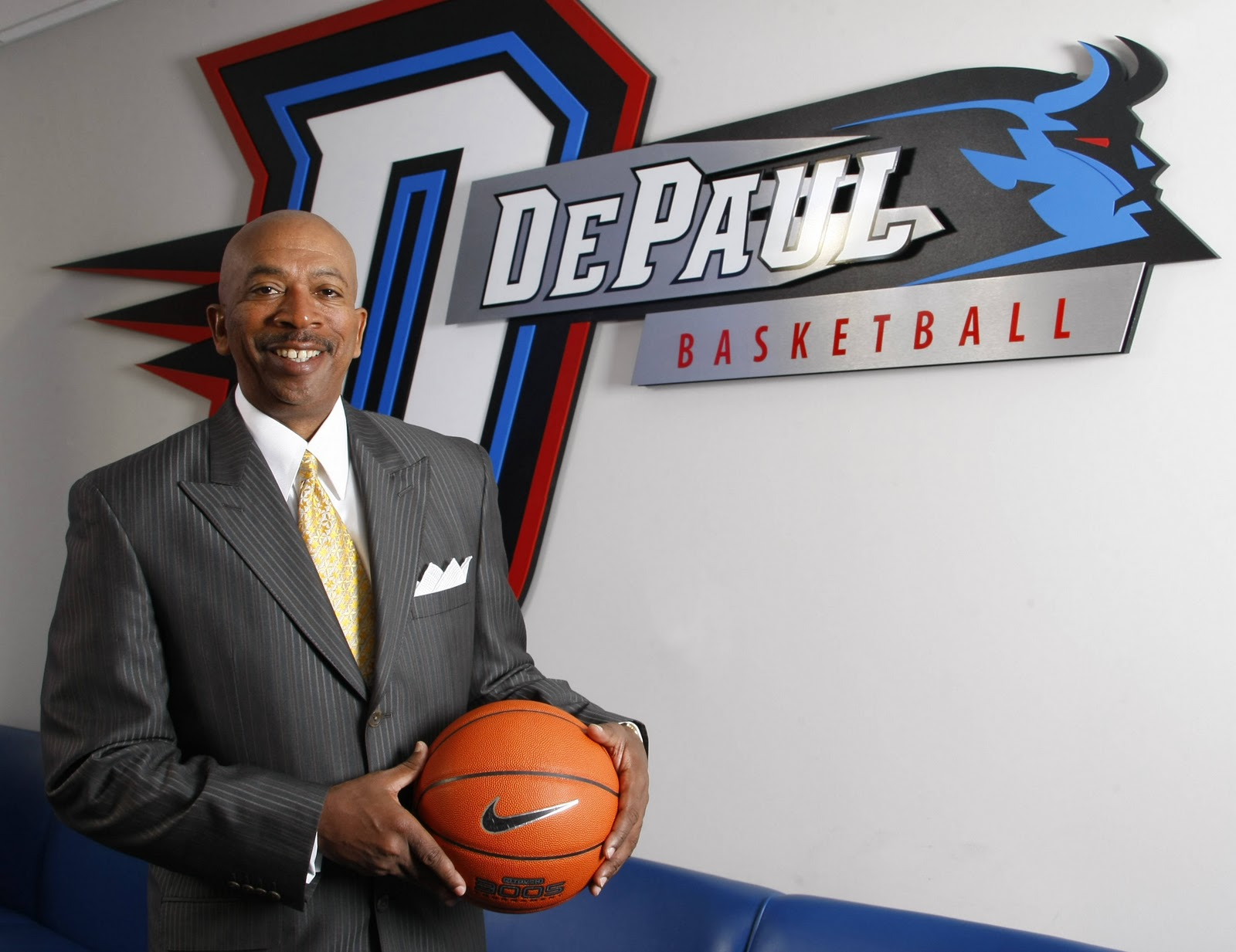 DePaul head coach Oliver Purnell has the Blue Demons tied for first place in the Big East Conference.