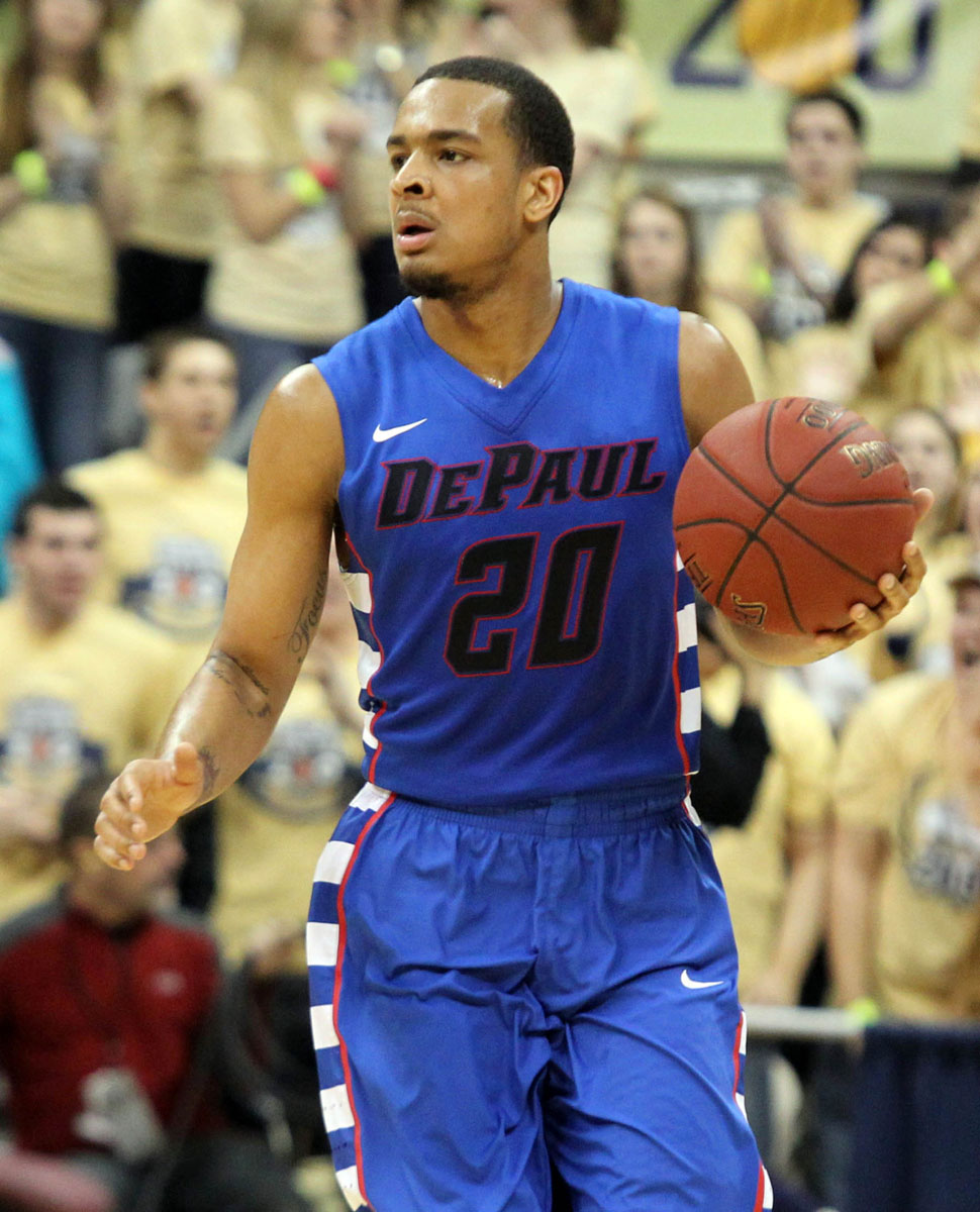 Brandon Young moved to fifth on DePaul's all-time scoring list on Sunday