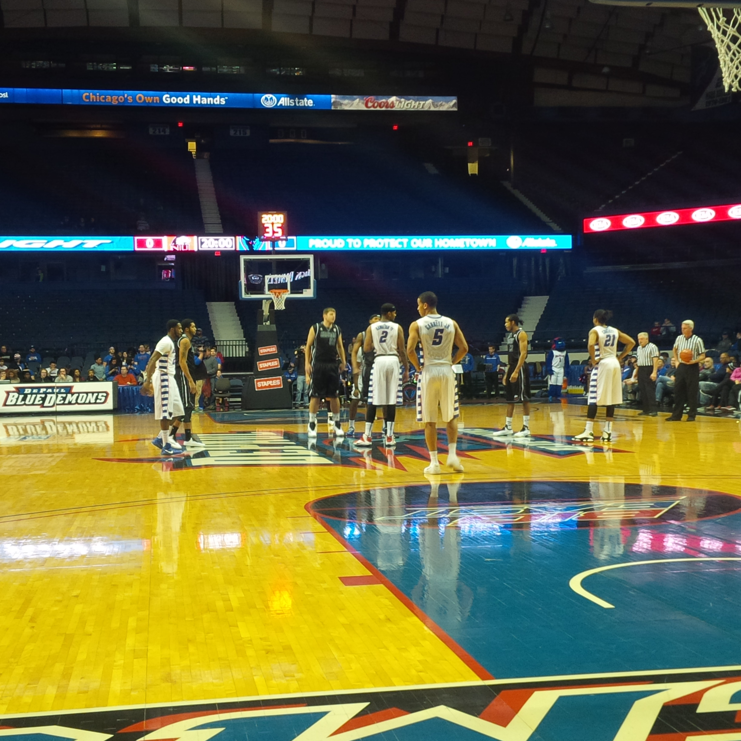 The Blue Demons tip off against the Huskies on Tuesday night.