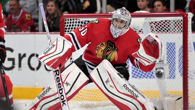 Blackhawks goalie Corey Crawford will miss 2-3 weeks.
