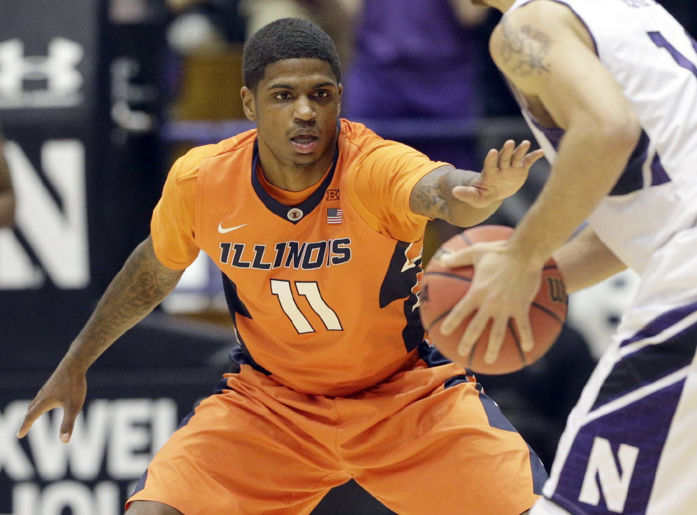 Aaron Cosby is the latest Illini guard to hit the injured list (photo from The Associated Press).