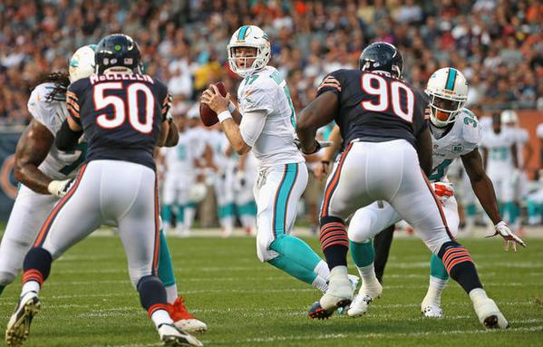 The Chicago Bears took down the Miami Dolphins on Thursday night.