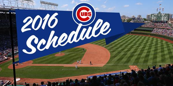 The Chicago Cubs have released their 2016 shedule.