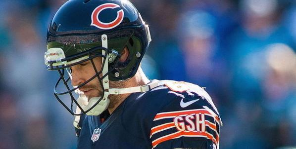 Chicago Bears quarterback Jay Cutler leaves game versus Cardinals.